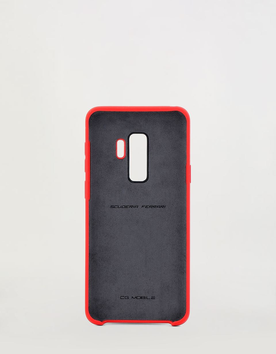 Scuderia Ferrari Online Store - Red rigid silicone case for the Samsung Galaxy S9 Plus -