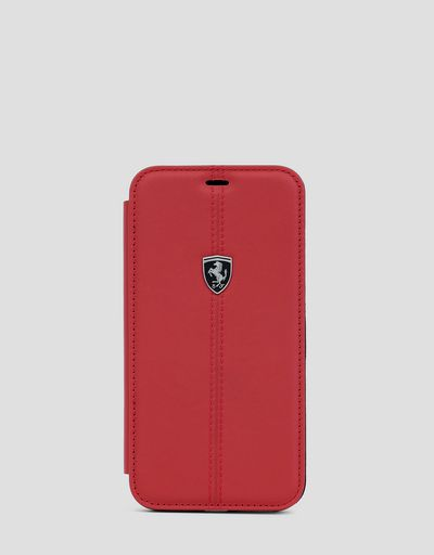 Red leather wallet case for the iPhone XS Max