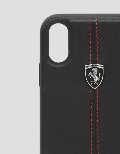 Scuderia Ferrari Online Store - Black leather hard case for iPhone XR - Smartphone Accessories