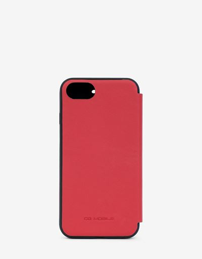 Red leather wallet case for the iPhone 8