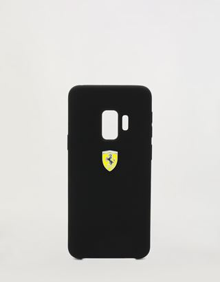 Scuderia Ferrari Online Store - Black rigid silicone case for the Samsung Galaxy S9 - Smartphone Accessories