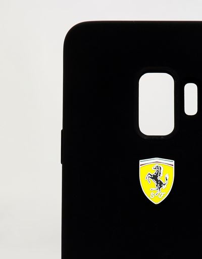 Scuderia Ferrari Online Store - Black silicone hard case for Samsung Galaxy S9 - Smartphone Accessories