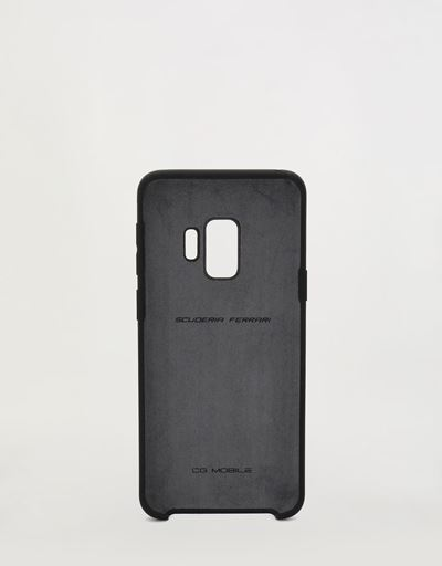 Black rigid silicone case for the Samsung Galaxy S9