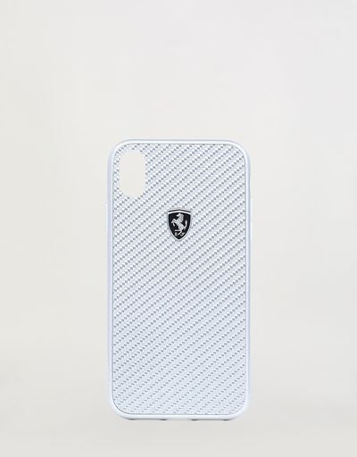 Genuine silver carbon fibre hard cover for iPhone XR