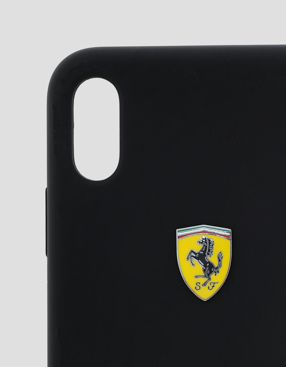 Scuderia Ferrari Online Store - Black rigid silicone case for the iPhone XS Max - Smartphone Accessories