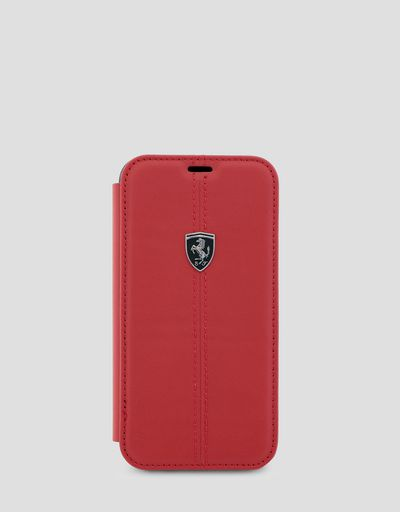 Red leather wallet case for the iPhone X and XS