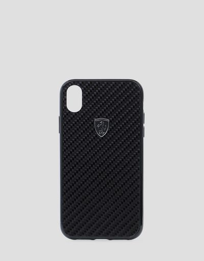 Genuine black carbon fibre cover for iPhone XR