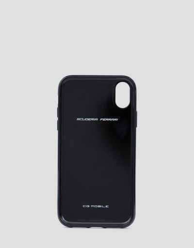 Black rigid carbon fiber case for the iPhone XR