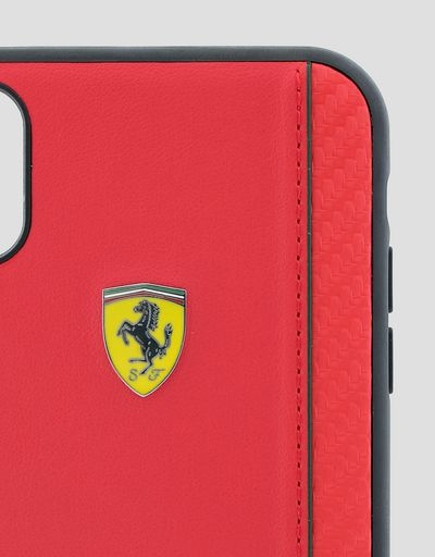 Scuderia Ferrari Online Store - Rigid case in red soft-touch rubber for the iPhone XR - Smartphone Accessories