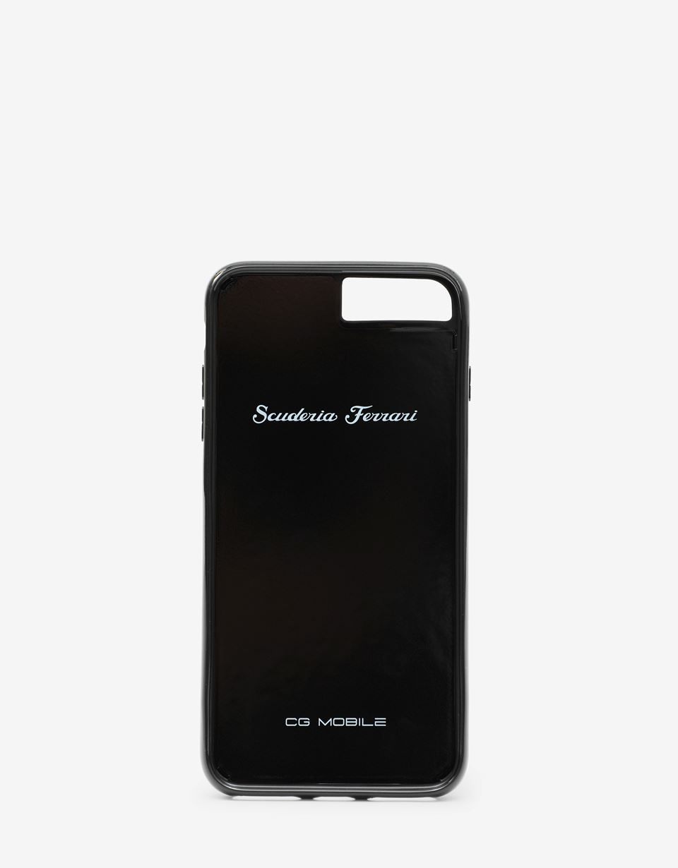 Scuderia Ferrari Online Store - Genuine black carbon fibre cover for iPhone 8 Plus - Smartphone Accessories