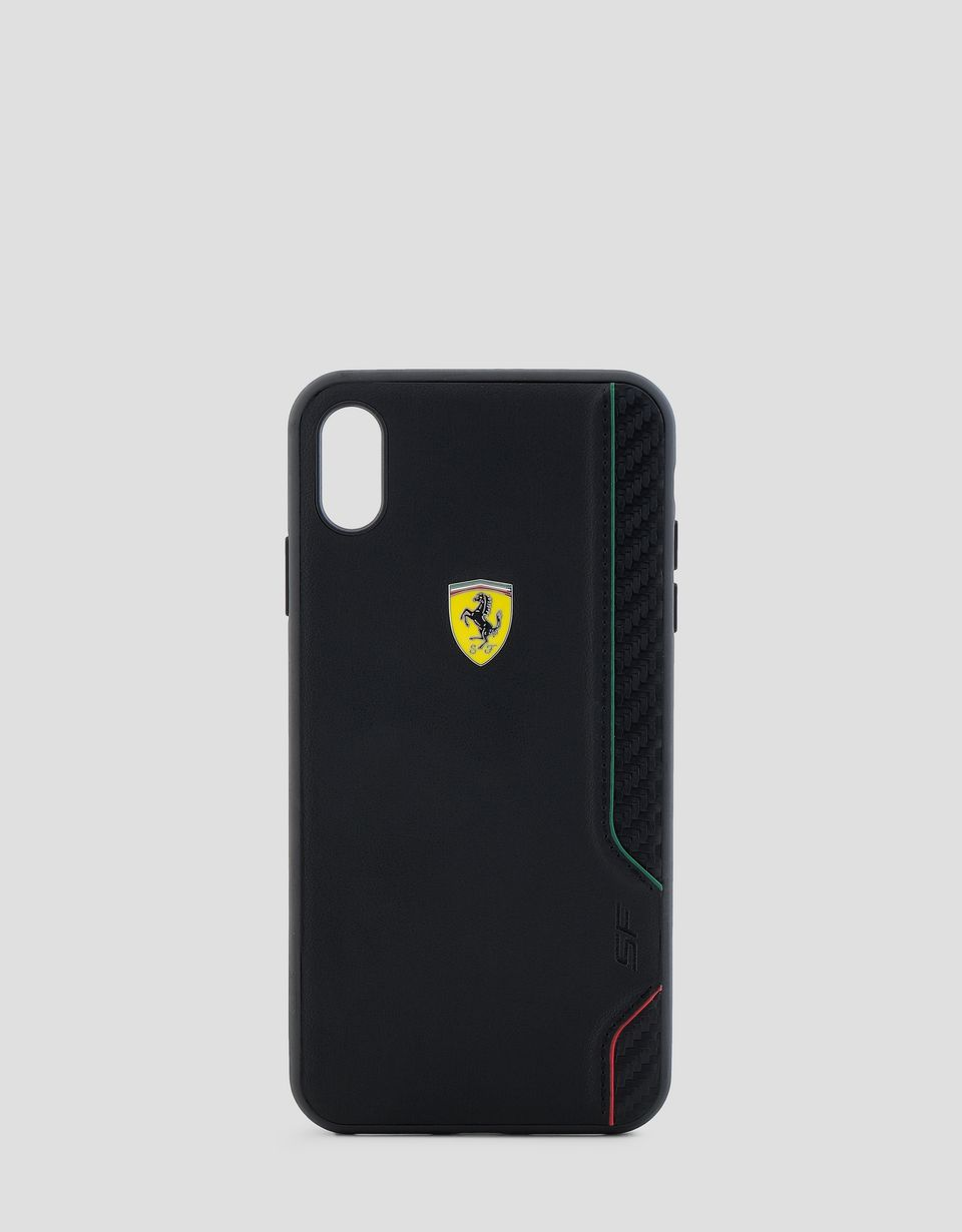 Scuderia Ferrari Online Store - Rigid case in black soft-touch rubber for the iPhone XS Max - Smartphone Accessories