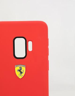Scuderia Ferrari Online Store - Red silicone hard case for Samsung Galaxy S9 - Smartphone Accessories