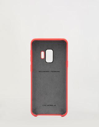 Scuderia Ferrari Online Store - Coque rigide rouge en silicone pour Samsung Galaxy S9 - Accessoires pour smartphone