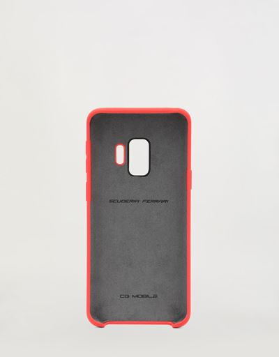 Red rigid silicone case for the Samsung Galaxy S9