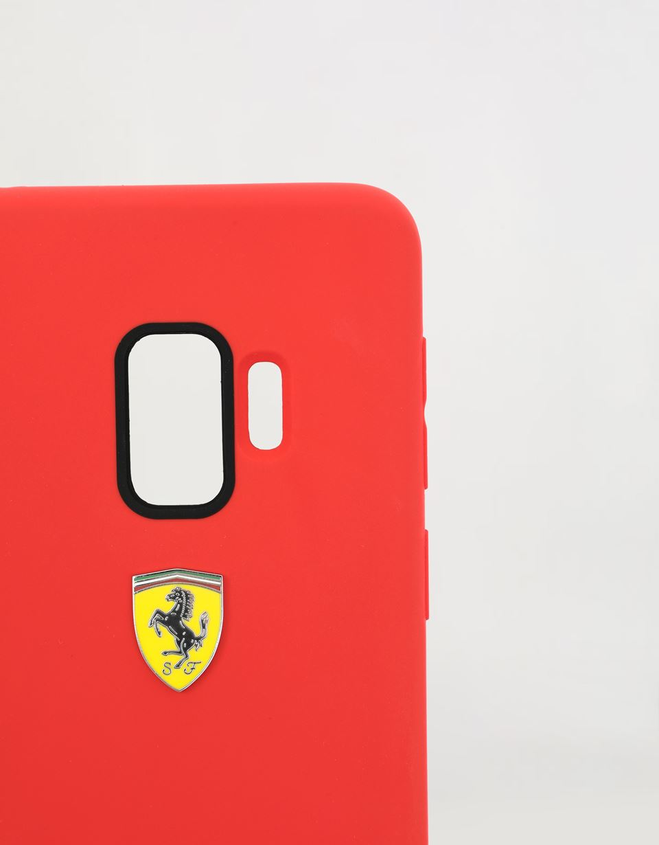 Scuderia Ferrari Online Store - Red silicone hard case for Samsung Galaxy S9 - Smartphone Accessories