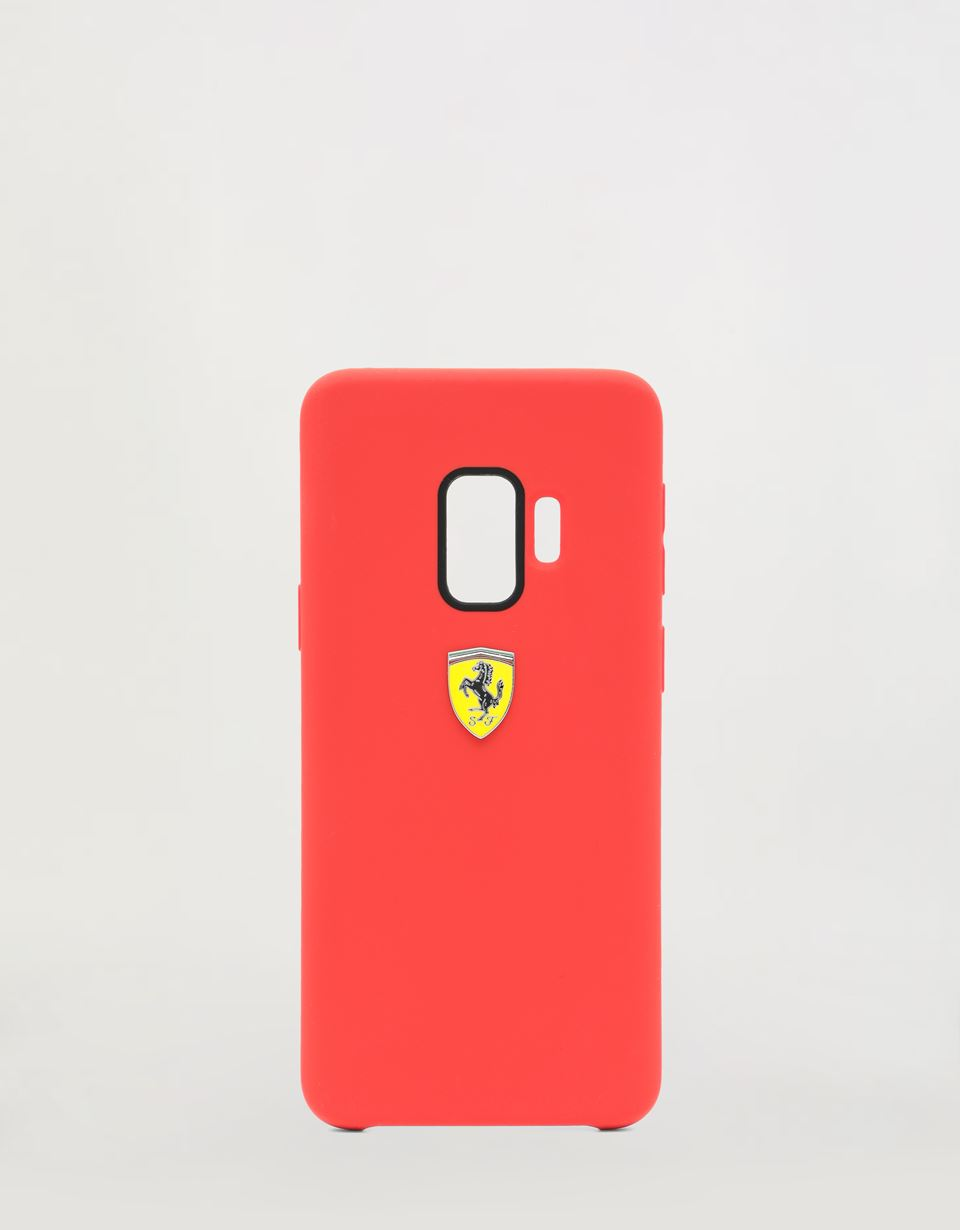 Scuderia Ferrari Online Store - Red rigid silicone case for the Samsung Galaxy S9 -