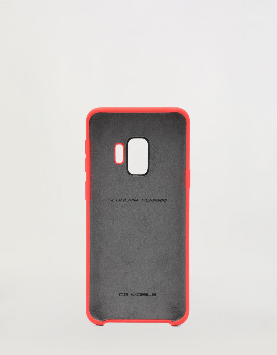 Scuderia Ferrari Online Store - Red rigid silicone case for the Samsung Galaxy S9 - Smartphone Accessories