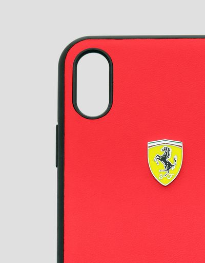 Scuderia Ferrari Online Store - Red soft touch rubber hard case for iPhone XS Max - Smartphone Accessories