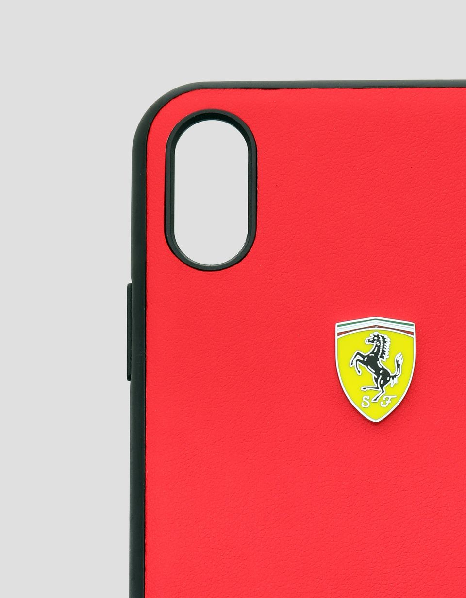 Scuderia Ferrari Online Store - Rigid case in red soft-touch rubber for the iPhone XS Max - Smartphone Accessories