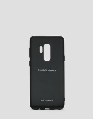 Scuderia Ferrari Online Store - Black leather hard case for Samsung Galaxy S9 Plus - Smartphone Accessories
