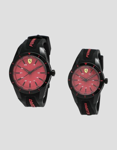 Set of two Scuderia Ferrari RedRev watches with different diameters