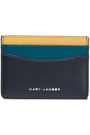 MARC JACOBS Color-block leather cardholder