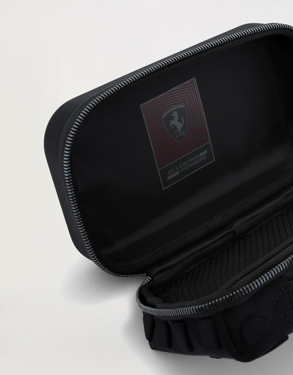 Scuderia Ferrari Online Store - Hyperformula men's toiletry case with embossed inserts - Toiletry Bags