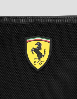 Scuderia Ferrari Online Store - Clutch bag with zip and adjustable shoulder strap - Pouches & Envelopes