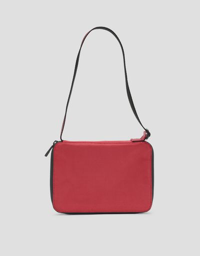 Clutch with zipper and adjustable shoulder strap