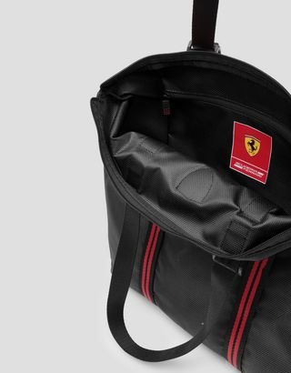 Scuderia Ferrari Online Store - Shoulder bag in water resistant technical fabric - Tote Bags