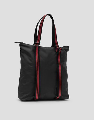 Shoulder bag in water resistant technical fabric