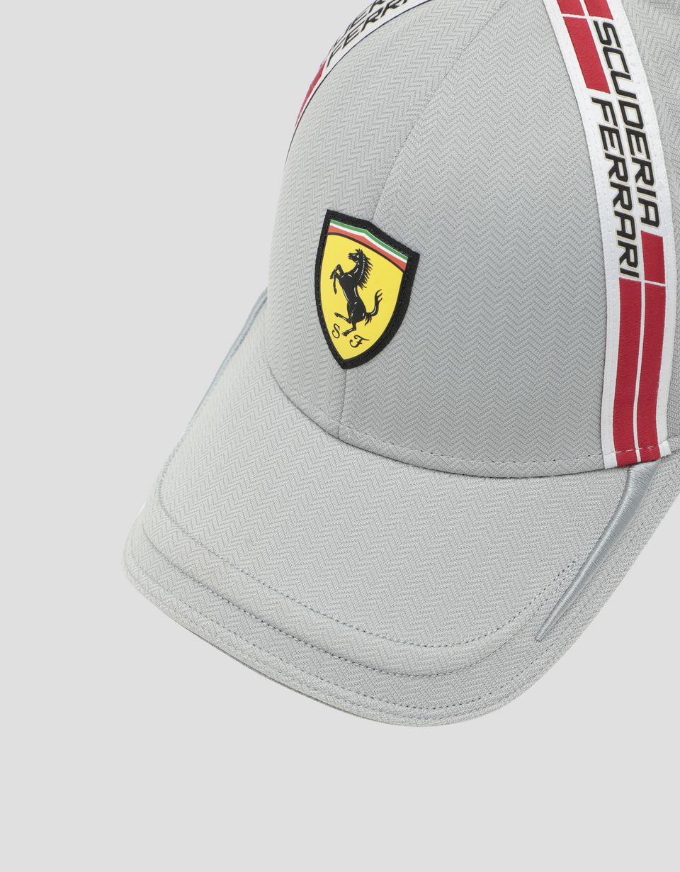 Scuderia Ferrari Online Store - Men's hat in technical fabric with Icon Tape - Baseball Caps