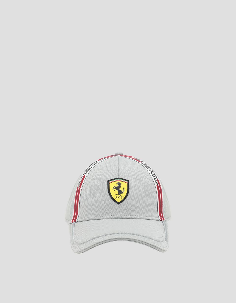 Scuderia Ferrari Online Store - Men's hat in Chevron technical fabric with Icon Tape - Baseball Caps