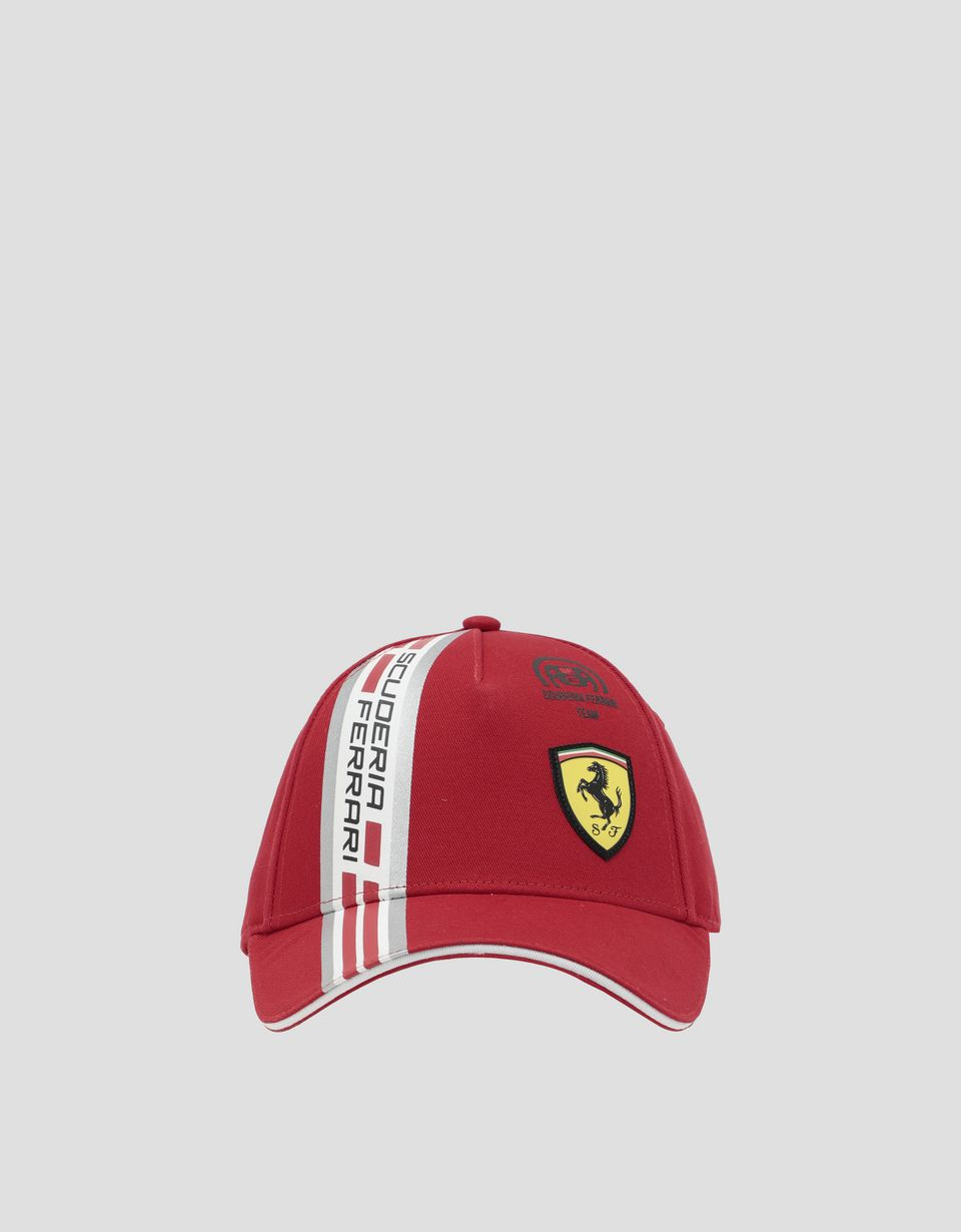 Scuderia Ferrari Online Store - Children's cotton hat with Icon Tape - Baseball Caps
