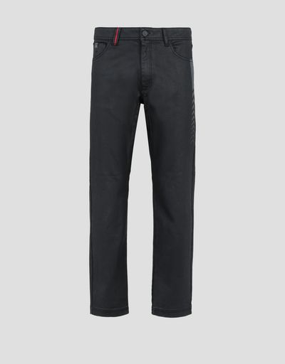 Scuderia Ferrari Online Store - Men's five-pocket jeans with arrow print - 5-pocket trousers