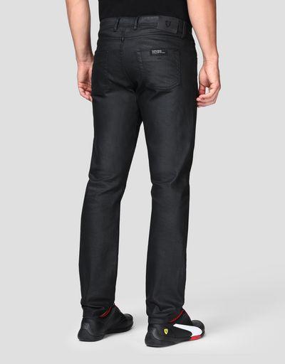 Jeans cinque tasche uomo con stampa freccia
