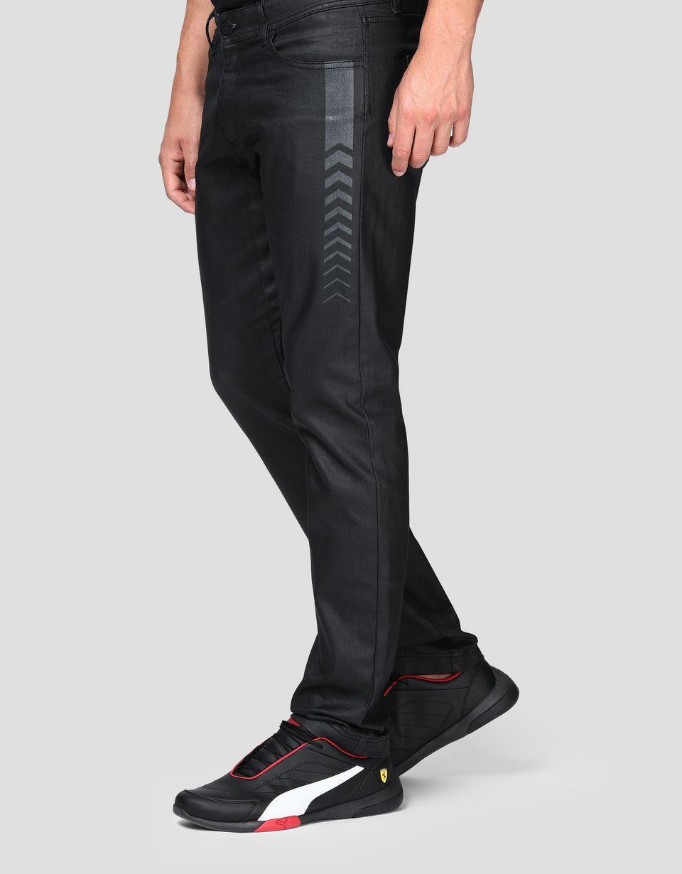Scuderia Ferrari Online Store - Jeans cinque tasche uomo con stampa freccia - 5 Tasche