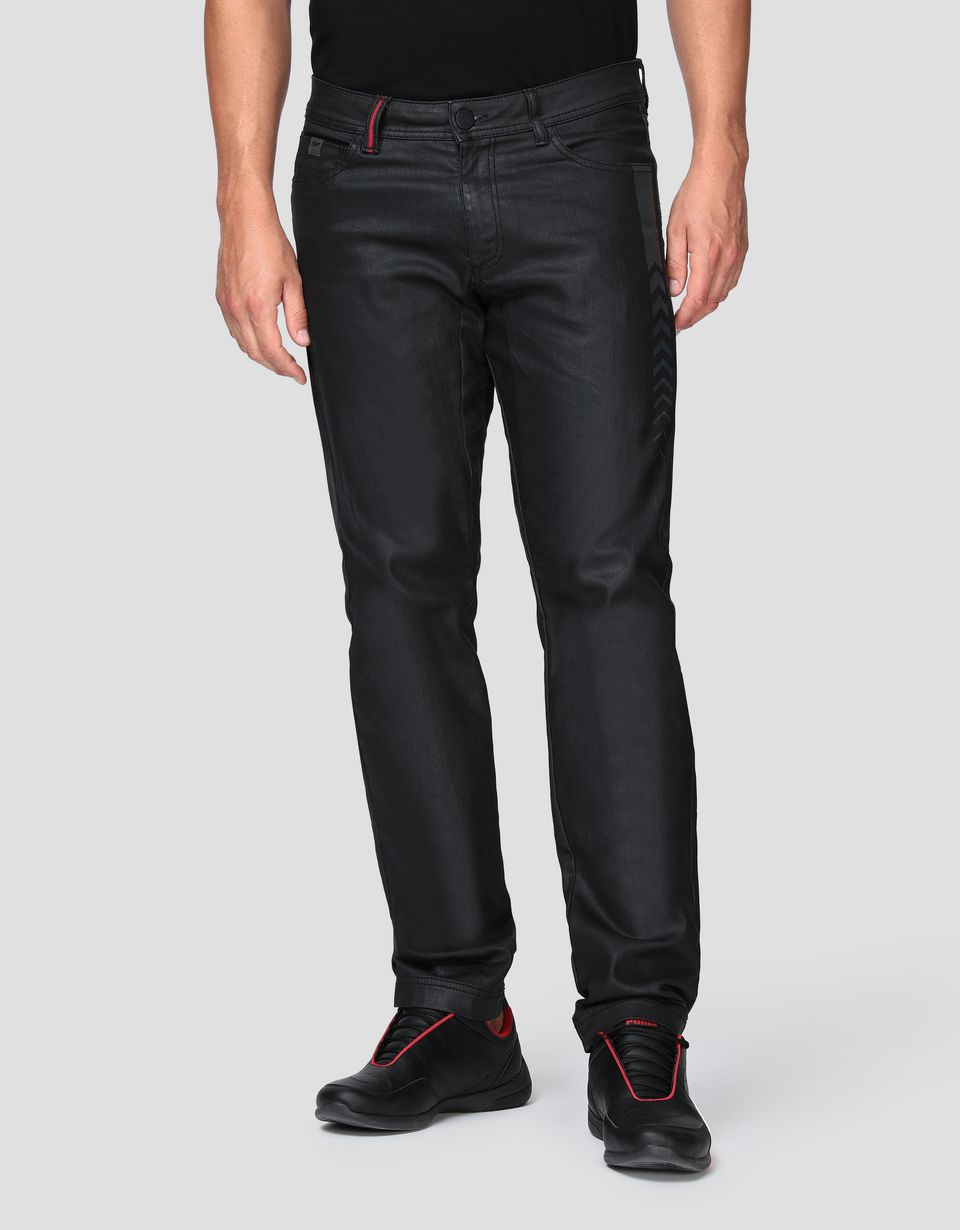 Scuderia Ferrari Online Store - Men's five-pocket jeans with arrow print - 5-pocket-pants