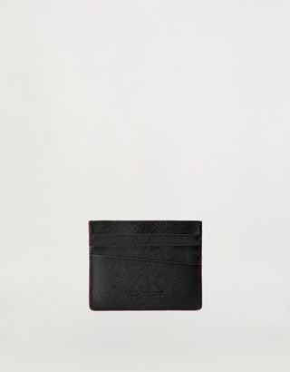Scuderia Ferrari Online Store - EVO Saffiano leather credit card holder - Credit Card Holders