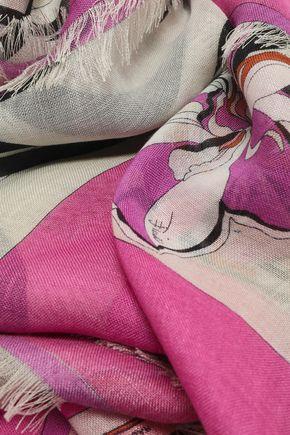 エミリオ プッチ プリント カシミヤ&シルク混 スカーフ