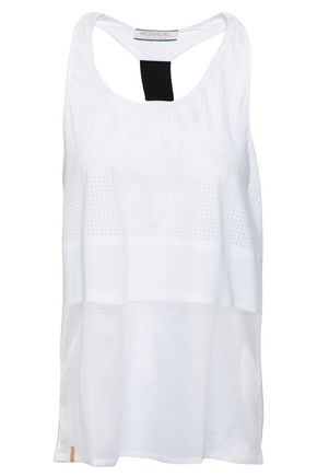 MONREAL LONDON Paneled stretch-knit and mesh tank