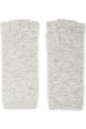 MADELEINE THOMPSON Wool and cashmere-blend fingerless gloves