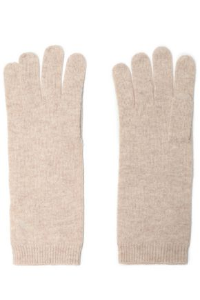 MADELEINE THOMPSON Mélange wool and cashmere-blend gloves