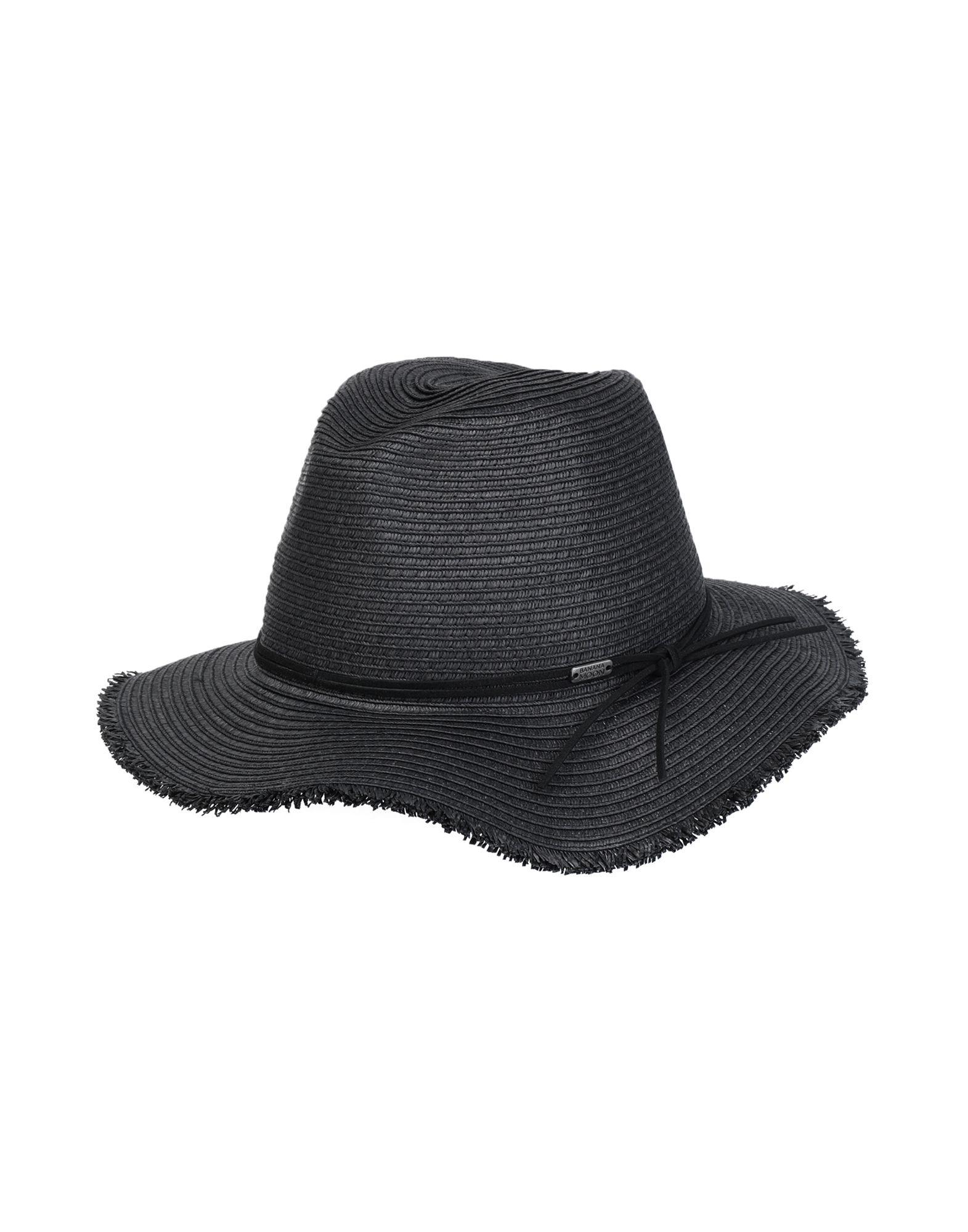 《セール開催中》BANANA MOON レディース 帽子 ブラック I セルロース 100%