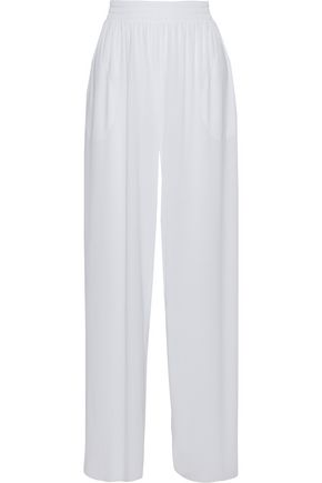 NORMA KAMALI Striped jersey wide-leg pants