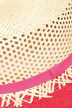 SENSI STUDIO Color-block perforated straw hat