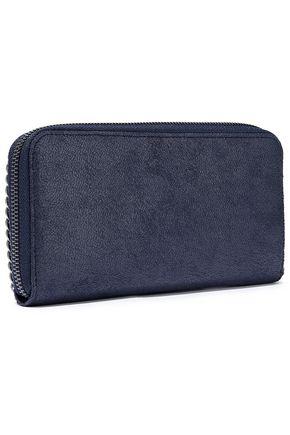 STELLA McCARTNEY Falabella faux suede continental wallet