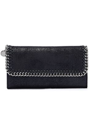 STELLA McCARTNEY Falabella faux suede continental wallet