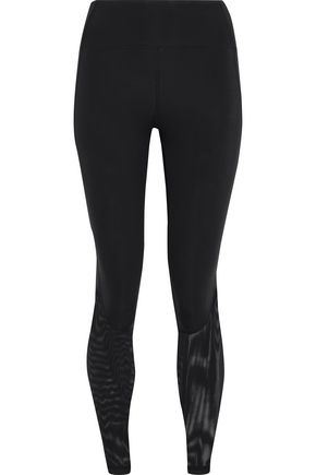 IRIS & INK Mesh-paneled stretch leggings