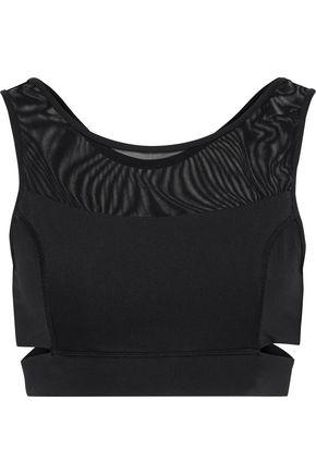 IRIS & INK Mesh-paneled cutout stretch sports bra